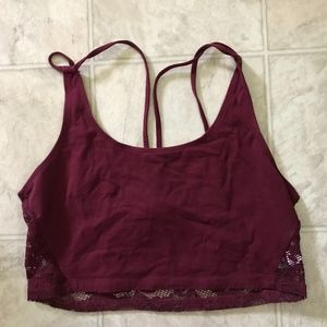 American Eagle Outfitters Lace Back Bra Athletic M